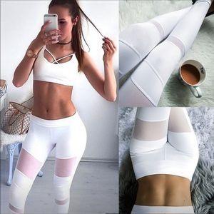 Pants - White workout pants GYM YOGA leggings S NEW